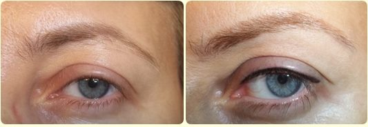 eyeliner superiore infracigliare linea occhi trucco permanente