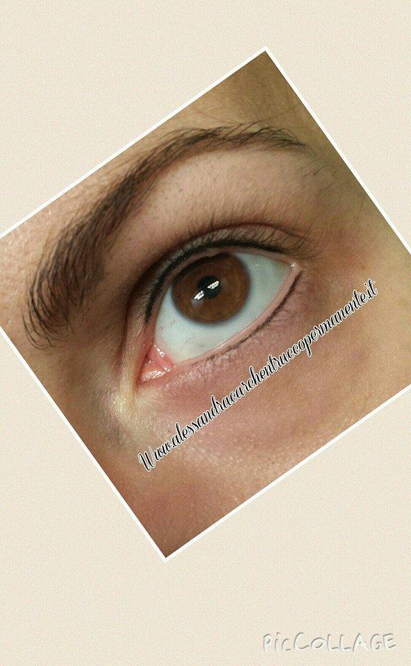linea occhi trucco permannete infracigliare superiore inferiore