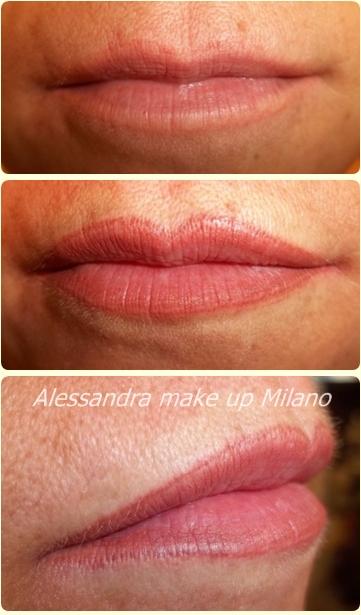 tatuagggio contorno labbra sfumato Trucco permanente effetto volume by Alessandra Carchen