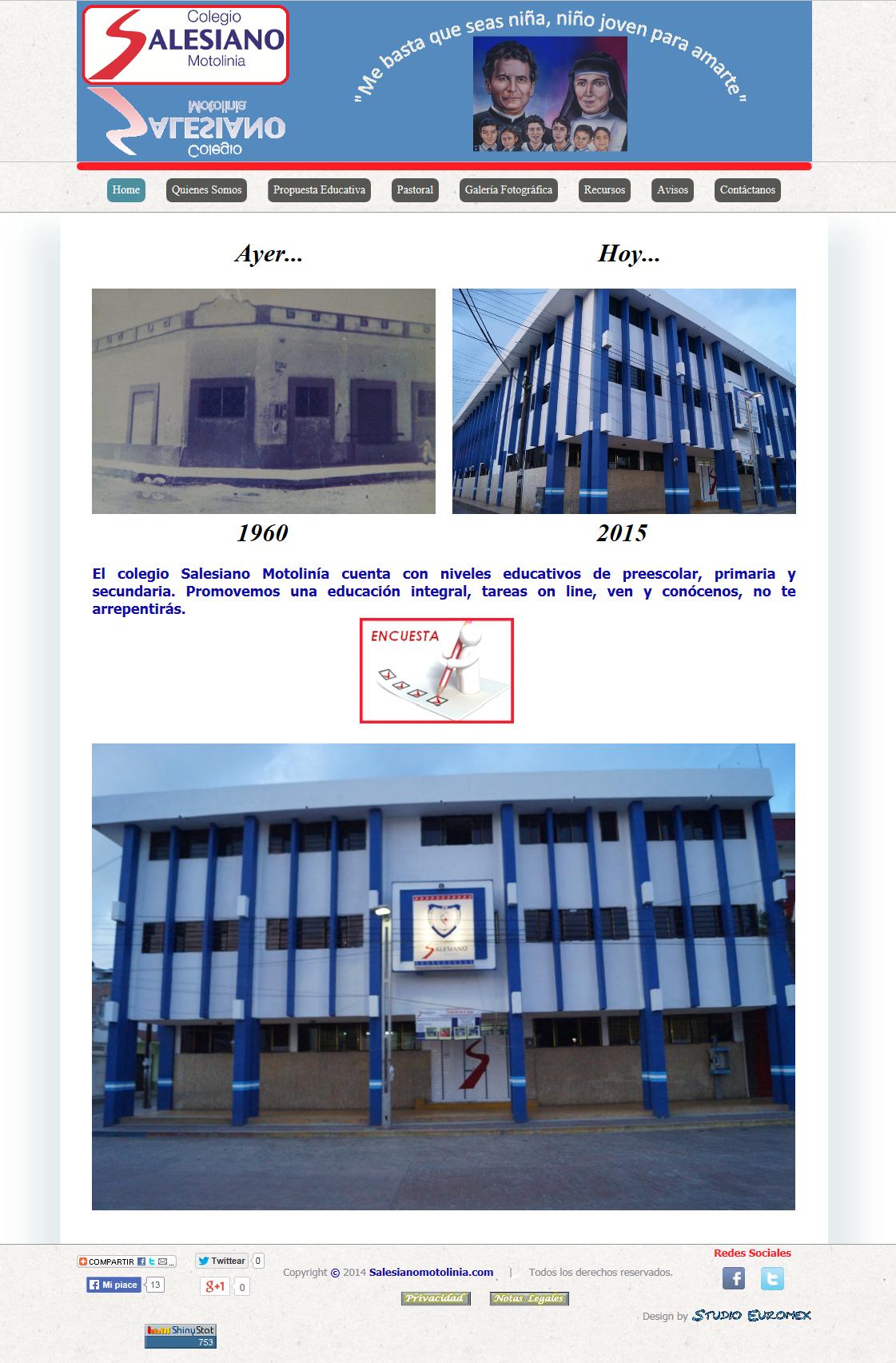 Colegio Salesiano Motolinia año 2014.