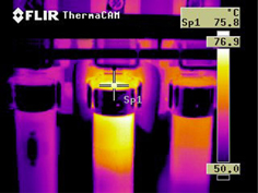 Infrared imagine for electric problem