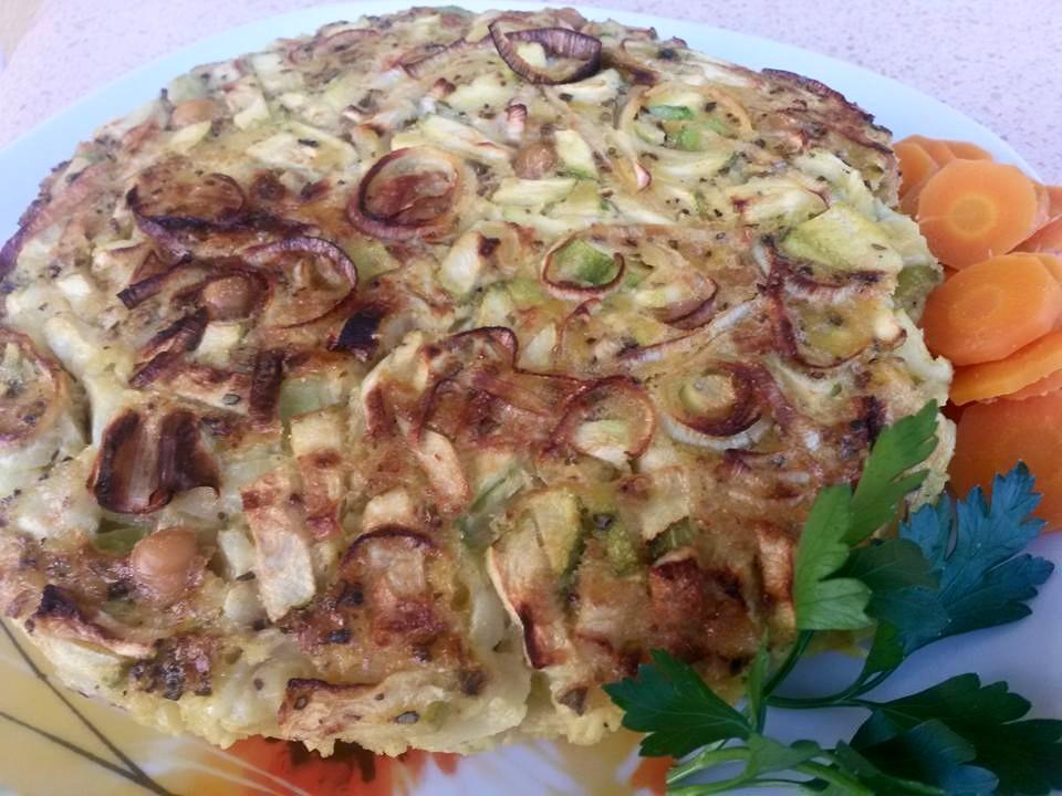sformato farina ceci porro zucchine zucchina porri curcuma salutariano piatto ricetta salutariana