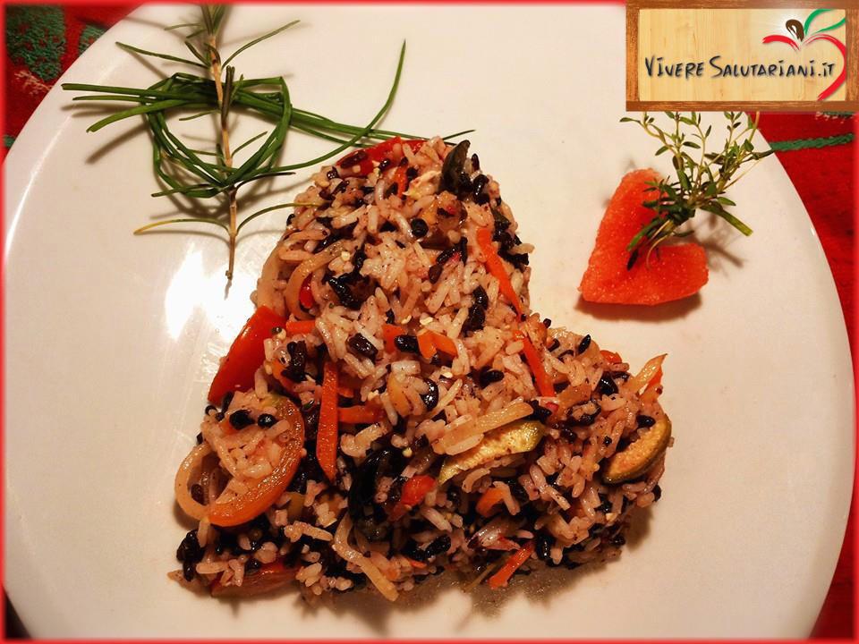bisrisotto bis risotto venere basmati integrale verdure amore tortino riso cuore splendido ricetta salutariana vivere salutariani