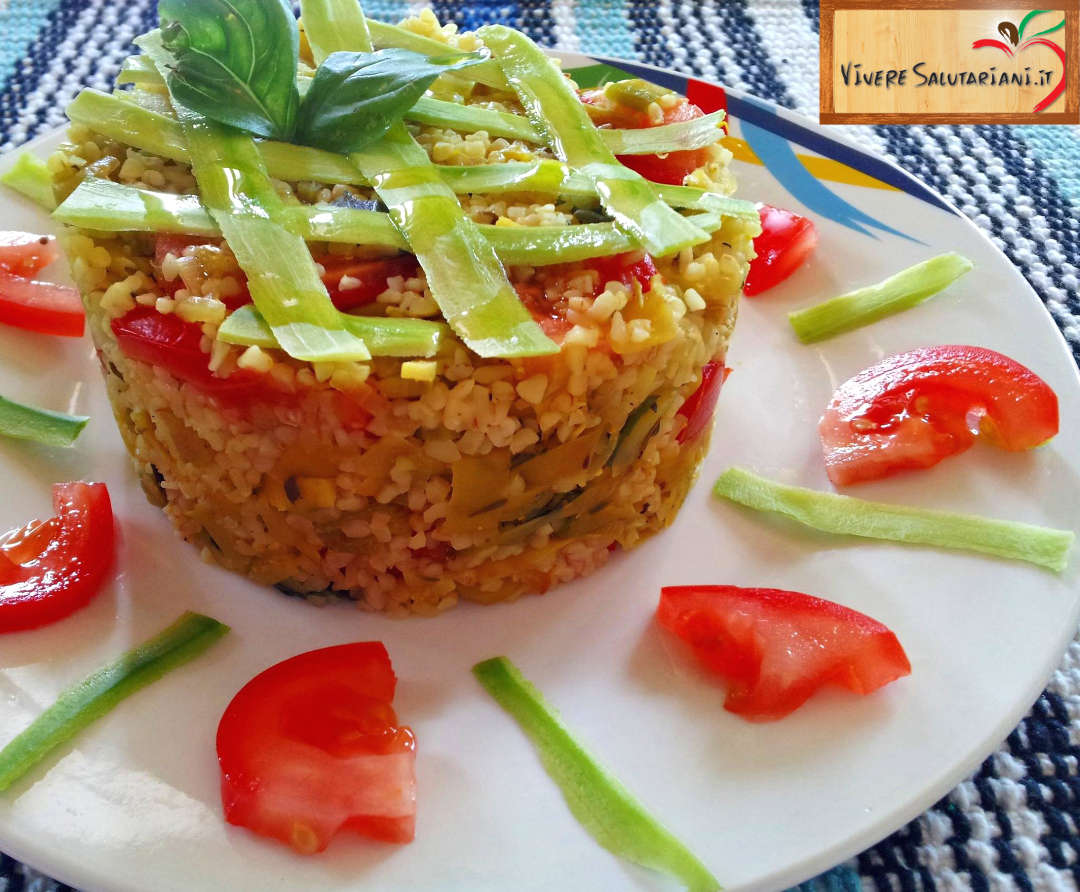 tortino bulgur bul gur amidacei ricette buone  vegetariano vegano