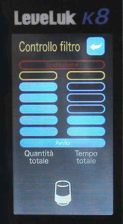 k8 display controllo filtro personalizzabile