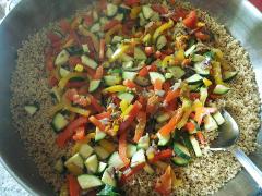 couscous cous cus cuscus con verdure padella