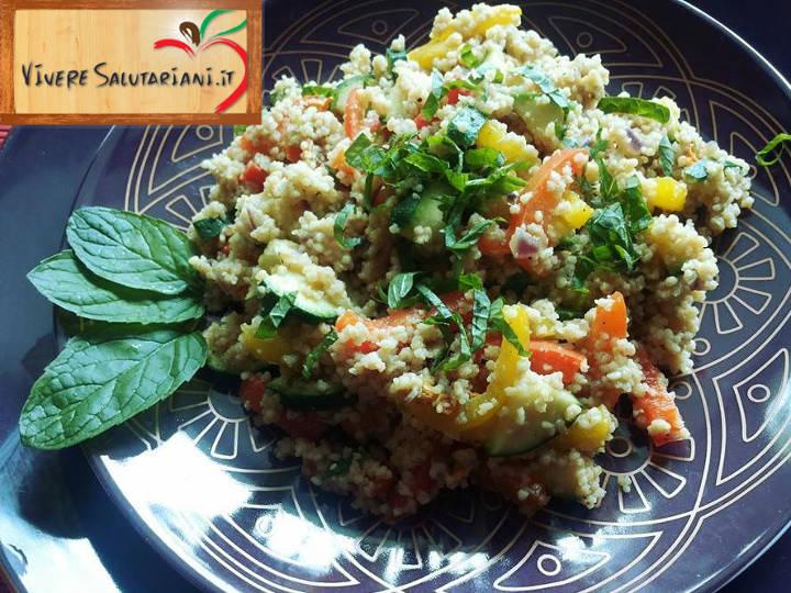 couscous cous integrale verdure menta salutariano ricetta