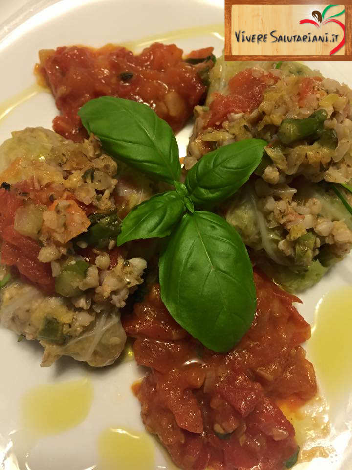 fagottini verza involtini grano saraceno verdure ricetta vegana vegetariana salutariana