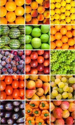verdura frutta colorata