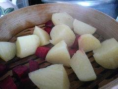 patate rape rosse barbabietola rossa barbabietole rapa vapore cottura