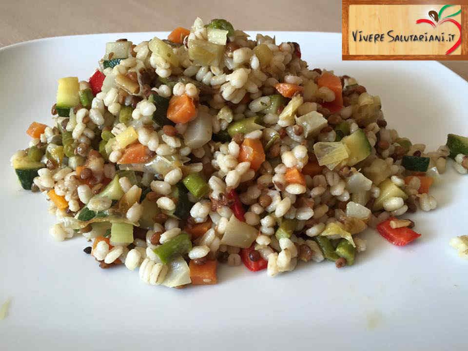 insalata orzo verdure piatto salutariano ricetta ricette salutariane