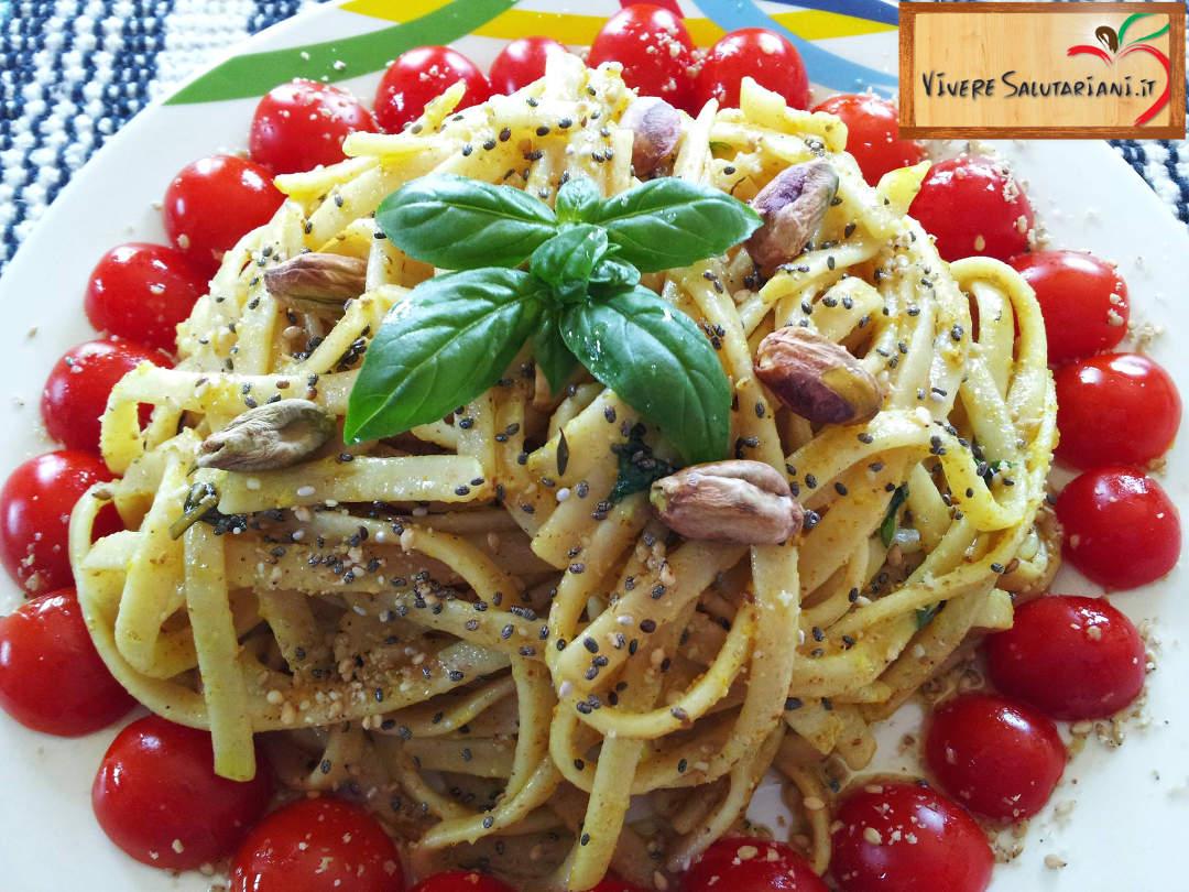 linguine kamut khorsan grano integrale salutariani ricetta semi commestibili oleosi girasole chia sesamo proprietà