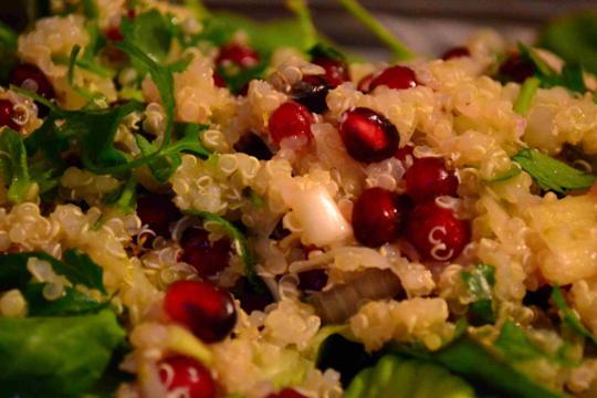 melograno melograna quinoa prezzemolo scalogno piatto salutariano ricetta ricette salutariane