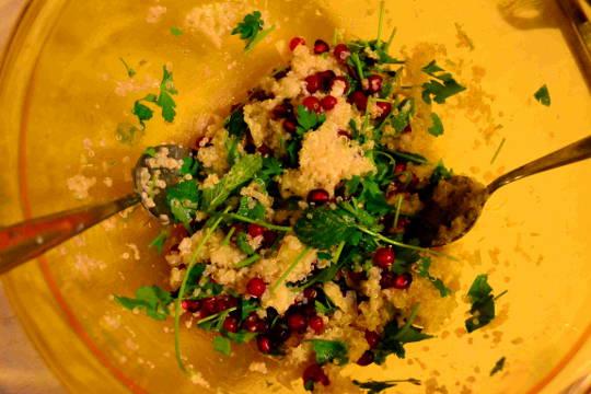 menta prezzemolo melograno quinoa