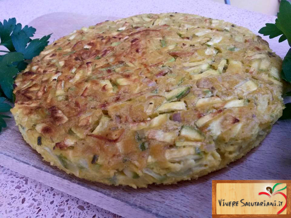 sformato sformatino vegano veg zucchine scalogno porro farina ceci salutariano piatto ricette salutariane