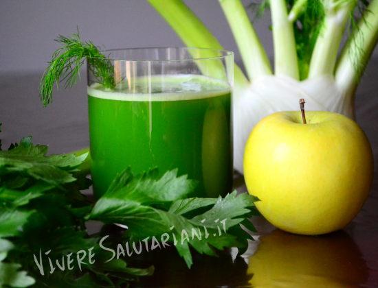 melatox succo verde principianti novizi buono mela finocchio sedano vivere salutariani team