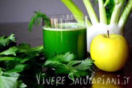 melatox succo verde mele sedano finocchio depurativo disintossicante detox