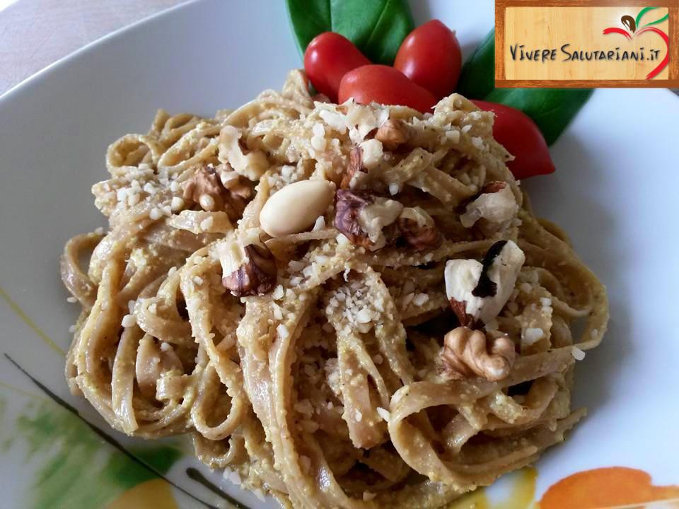 tagliolini farro integrali piatto salutariano ricetta ricette salutariane