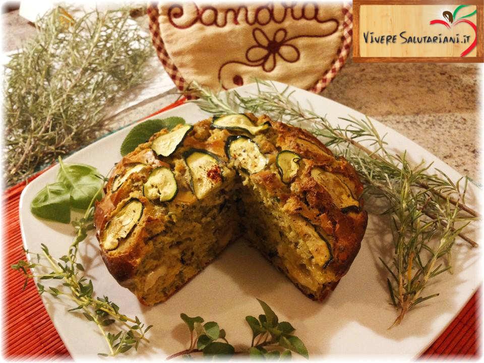 farina ceci zucchine zucchina scalogno cipolla semi di lino salutariano piatto ricette salutariane