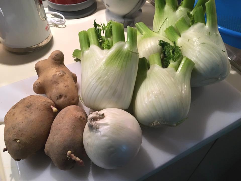 finocchi patate cipolla bianca