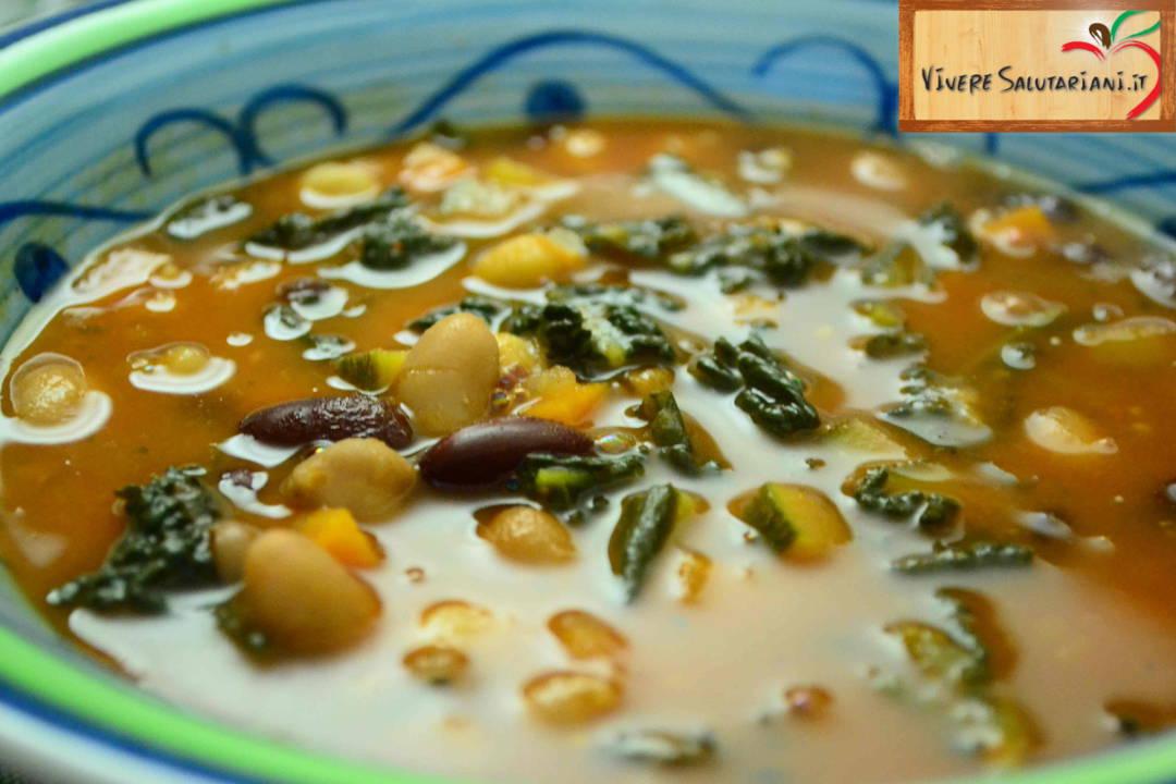 zuppa dorata tre legumi piatto salutariano ricetta ricette salutariane
