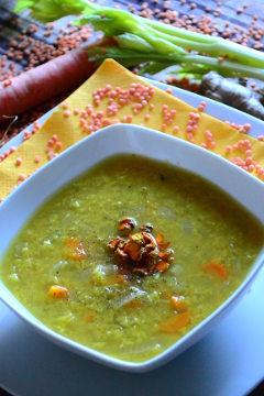 zuppa esotica lenticchie curcuma