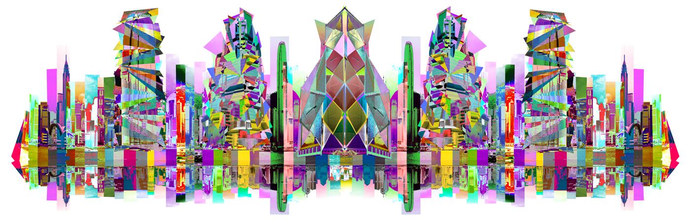HONG KONG SKYLINE FEDERICO COMELLI FERRARI ART