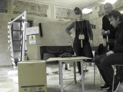 Giulia, Giuseppe e Massimo in scena