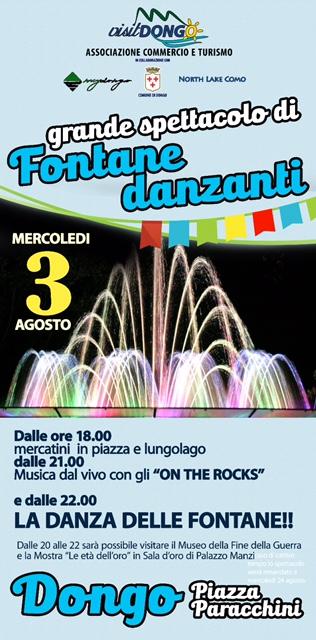 spettacolo fontane danzanti mercatini musica live lungo lago e piazze dono lago di como