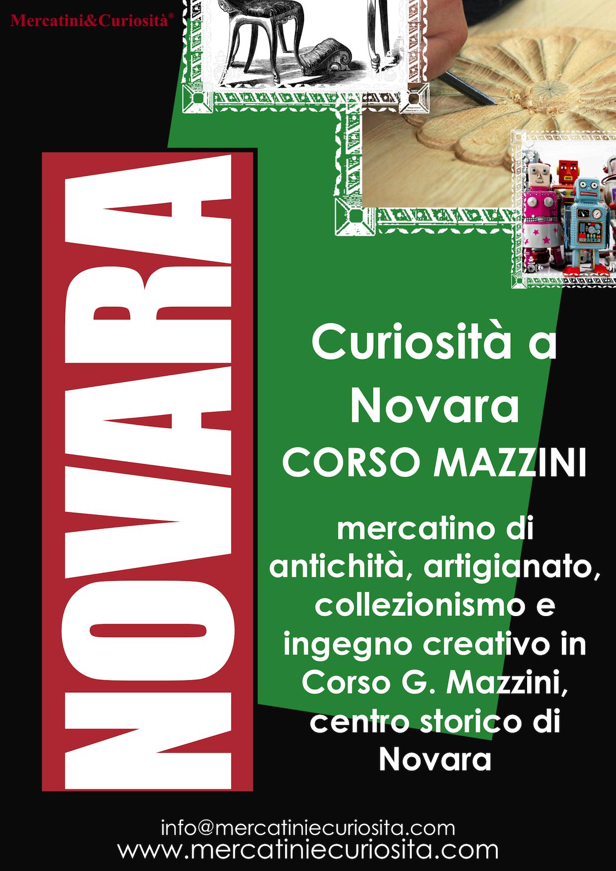 mercatino bancarelle antichità collezionismo artigianato ingegno creativo corso mazzini centro storico novara