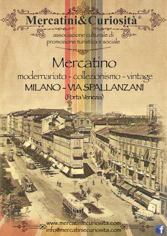 mercatino modernariato collezionismo vintage via spallanzani porta venezia centro storico milano