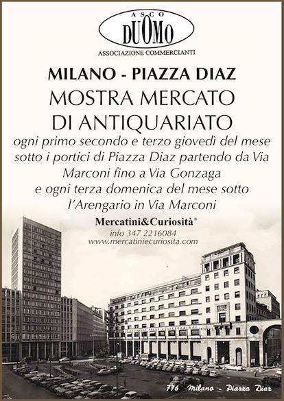 mostra mercato antiquariato piazza diaz milano centro