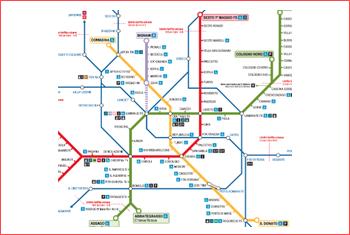 schema rete metropolitana atm milano