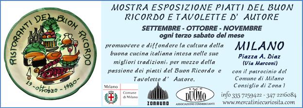 mostra esposizione piatti buon ricordo e tavolette d' autore Milano