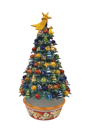 Ceramic Christmas tree handmade 7th
