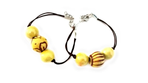 Ceramic bracelet yellow
