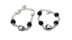 Ceramic bracelet black and white 2