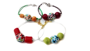 Ceramic bracelet multicolor