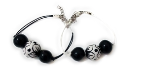 Ceramic bracelet black and white