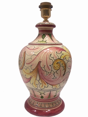 Lamp 2nd dim ornate pink