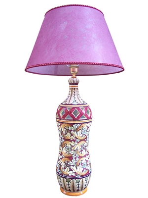 High lamp 3rd dim ornate pink