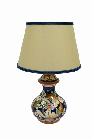 Lamp 2nd dim ornate blue