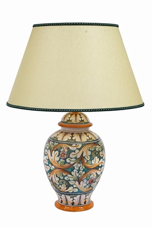 Lamp 3rd dim ornate green