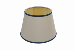 parchment lampshade white blue