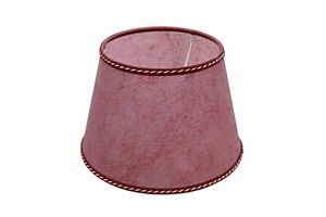 Parchment lampshade red