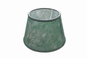 parchment lampshade green