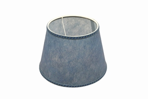 parchment lampshade blue