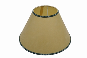 parchment lampshade yellow green