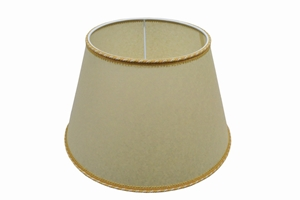 parchment lampshade big yellow