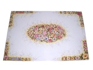 Tavolo in pietra lavica ceramizzata floreale 3